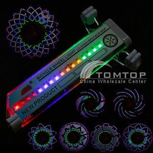 Cycling Bike Bicycle Tire Wheel Valve 16 LED Flash Spoke Light Car Motorcycle