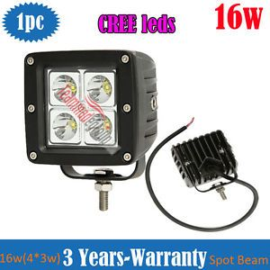 16W CREE Off Road LED Work Driving Fog Light Lamp 4x4 Truck Motorcycle Bike 12V