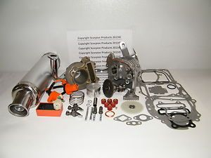 100cc Big Bore Kit Performance Power Pack Silver Exhaust QMB139 Scooter Parts