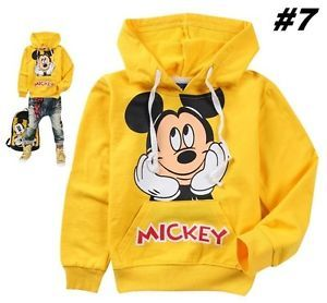 Mickey Mouse Kids Toddler Boys Girls Cotton Hoodies Unisex Clothes 95 2 3years