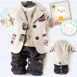 Cool Baby Boy Outfit Winter Clothes for Kids Suit Outwear Coat Pants Jacket Set