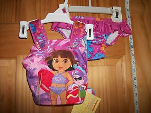 New Dora Explorer Baby Clothes 12M Infant Girl Swimsuit Swim Bathing Suit Bikini