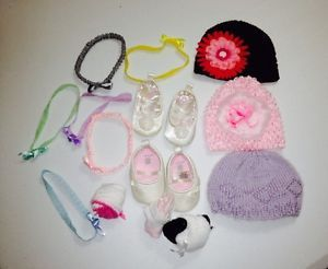 Lot of Mixed Baby Girl Hair Accessories Hat Caps Toddler Clothing Head Bands GUC