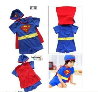 "New Baby Boys Swimwear Kid Boys Swimsuit Bathing Suit ""Super Boy"" E009"