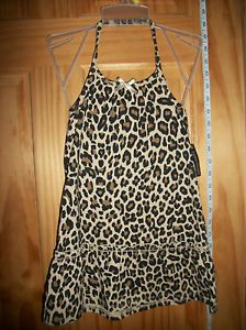 New Faded Glory Baby Clothes 3T Toddler Animal Print Dress Girl Brown Leopard