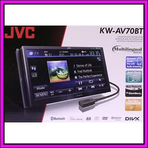 JVC KW AV70BT Touch Screen LCD DVD  iPhone iPod Car Player Receiver Stereo