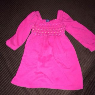 Baby Gap Pink Long Sleeve Dress Girls 18 24 Months Toddler