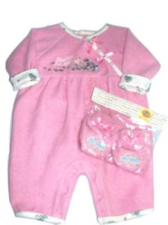 Harley Davidson Infant Girl Apparel Coverall Outfit Set with Booties