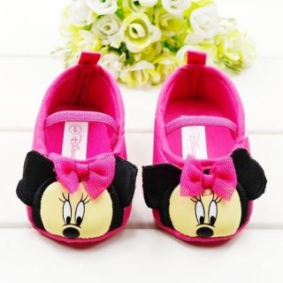 New Minnie Mouse Pink Baby Girls Infant Pre Walker Crib Shoes 6 9 Months Size 3