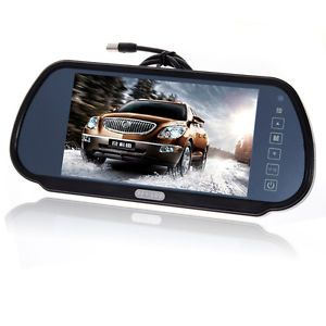 "7"" Wide Screen TFT LCD Car Rear View Backup Parking Mirror Monitor for DVD VCR"