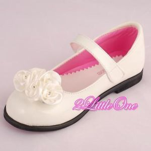 White Wedding Flower Girl Pageant Dress Shoes Toddler 9