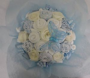 Baby Bouquet 20 Items of Baby Clothes Baby Shower Gift Nappy Cake Baby Boy
