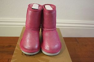 UGG Australia Kids Toddler Girls Classic Glitter Boots New Size 6 Fuschia Pink