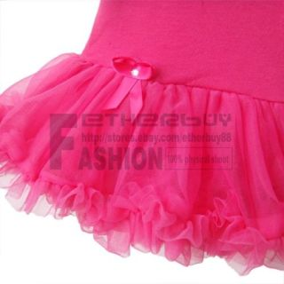 2pcs Newborn Baby Girl Headband Romper Dress Clothes Outfit Hot Pink Tutu 6 9M