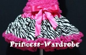 Baby Girl Hot Pink Zebra Full Pettiskirt Skirt Dress Party Dance Tutu 1 8 Year