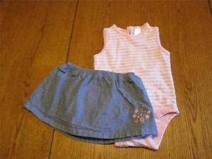 Baby Gap Skort Outfit Used Infant Baby Girls Clothing Clothes Size 6 12 Months