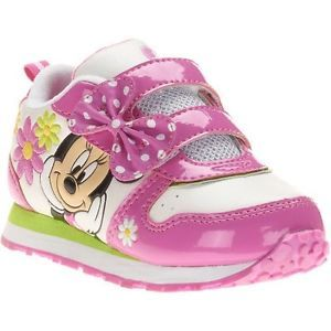 New Girl Disney Minnie Mouse Bow Athletic Sneakers Shoes Toddler Size 8 9