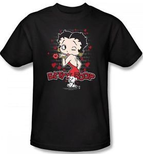 New Men Women Kid Youth Toddler Sizes Betty Boop Classic Kiss Puppy T Shirt Top