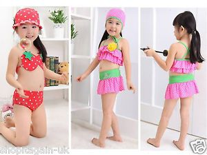 Hot Sale Baby Toddler Kid's Girl Swimwear Swimsuit Beach Bathingsuit 2 Style