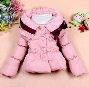 Baby Girls Toddler Outwear Clothes Kid Winter Warm Jacket Coat Snowsuit Clothing