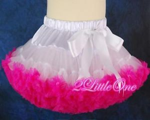 White Hot Pink Girl Pettiskirt Petticoat Tutu Party Skirt Toddler Size 3T 4T 002