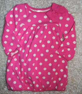 NWTS Gymboree Girls Smart Little Lady Pink Polka Dot Dress Sz 18 24 MO