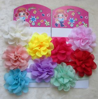 9pcs Baby Girls Toddler Headband Lace Flower Hair Band Bow Accessories Headwear