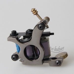 New Pro Carbon Steel Handmade Tattoo Machine Gun 10 Warp Coils for Shader Supply