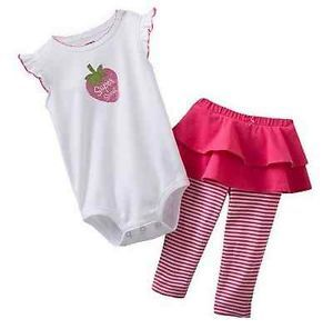 Carters Baby Girl Clothes 2 Piece Set Pink Strawberry 3 6 9 12 18 24 Months