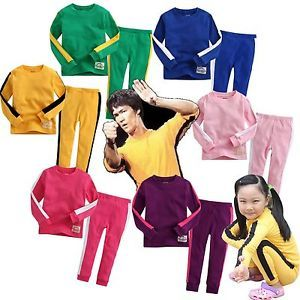 "Baby Toddler Kids Girl Boy Clothes Tracksuit Training Sportswear ""Bruce Lee"""