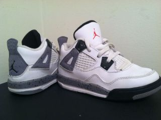 Nike Air Jordan Retro 4 Toddler White Cement 308500 103 Size 9C IV V x XI XII VI