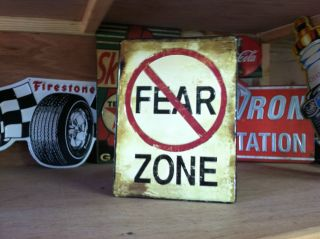 Fear Zone Metal Sign Man Cave Garage Shop Office Room Garage Mancave