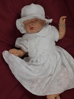 White Baby Girl Christening Flower Girl Bridesmaid Pageant Dress Outfit Hat
