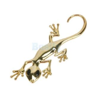 2X 3D Metal Plating Lizard Emblem Car Truck Motor Auto Decal Badge Sticker Decor