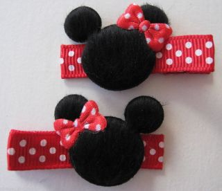 2 Boutique Toddler Baby Girl Hair Clip Bow Minnie Mouse