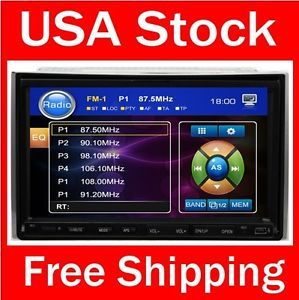 7 inch in Dash Double 2 DIN Touch Screen Car Stereo RDS