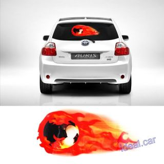 50x30cm Car Music Rhythm Fire Ball Flash Light Lamp Sound Activated Equalizer