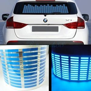 70 16cm Sound Activated Music Rhythm Blue LED Light Lamp Car Sticker Equalizer