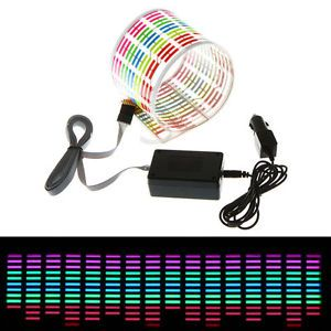 45x11cm Car Sticker Music Rhythm LED Flash Light Lamp Sound Activated Equalizer