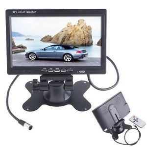 "7"" TFT LCD 16 9 4 3 Color Auto Car Rearview Headrest Monitor DVD Camera VCR"
