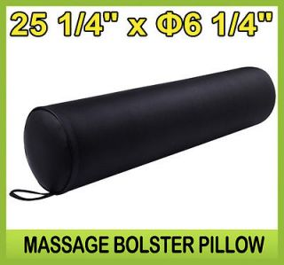 "New Soozier Full Round Massage Pillow Bolster Massager Chair Black 25"" x 6"""