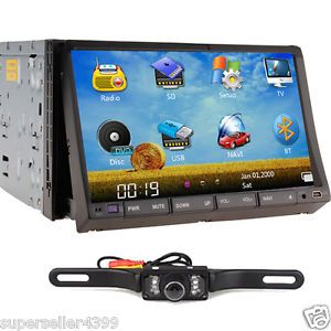 "7"" Double DIN Car DVD Stereo SAT Nav GPS Back Up Camera"