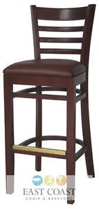 Wood Mahogany Restaurant Bar Stools Restaurant Chairs
