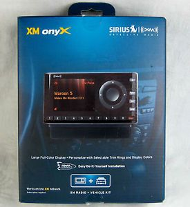 Sirius XDNX1V1 XM Onyx Sirius Car Satellite Radio Receiver and Vehicle Kit New