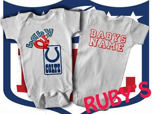 Indianapolis Colts One Piece Jersey Romper Baby Loves Colts Add Babys Name
