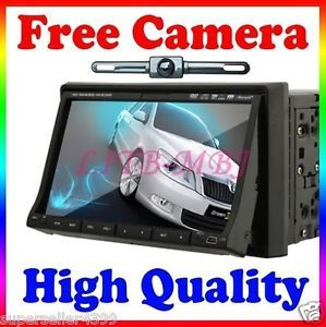 "2 DIN 7"" Car Deck DVD Player in Dash Car Radio iPod BT None GPS Head Unit Camera"