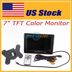 "US Stock 7""Inth TFT LCD Car Rearview Mirror Monitor Camera for VCR DVD GPS Camer"