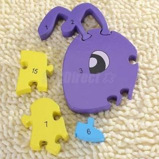Wooden Ant Jigsaw Puzzle Education w Number Preschool Kids Brain Development Toy