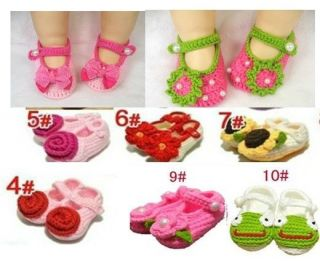 Brand New Handmade Cute Cartoon Baby Girls Shoes Slippers Size 0 12 Months A11