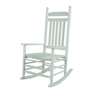 Jack Post KN 22W Knollwood Classic Wood Rocking Chair Gloss White